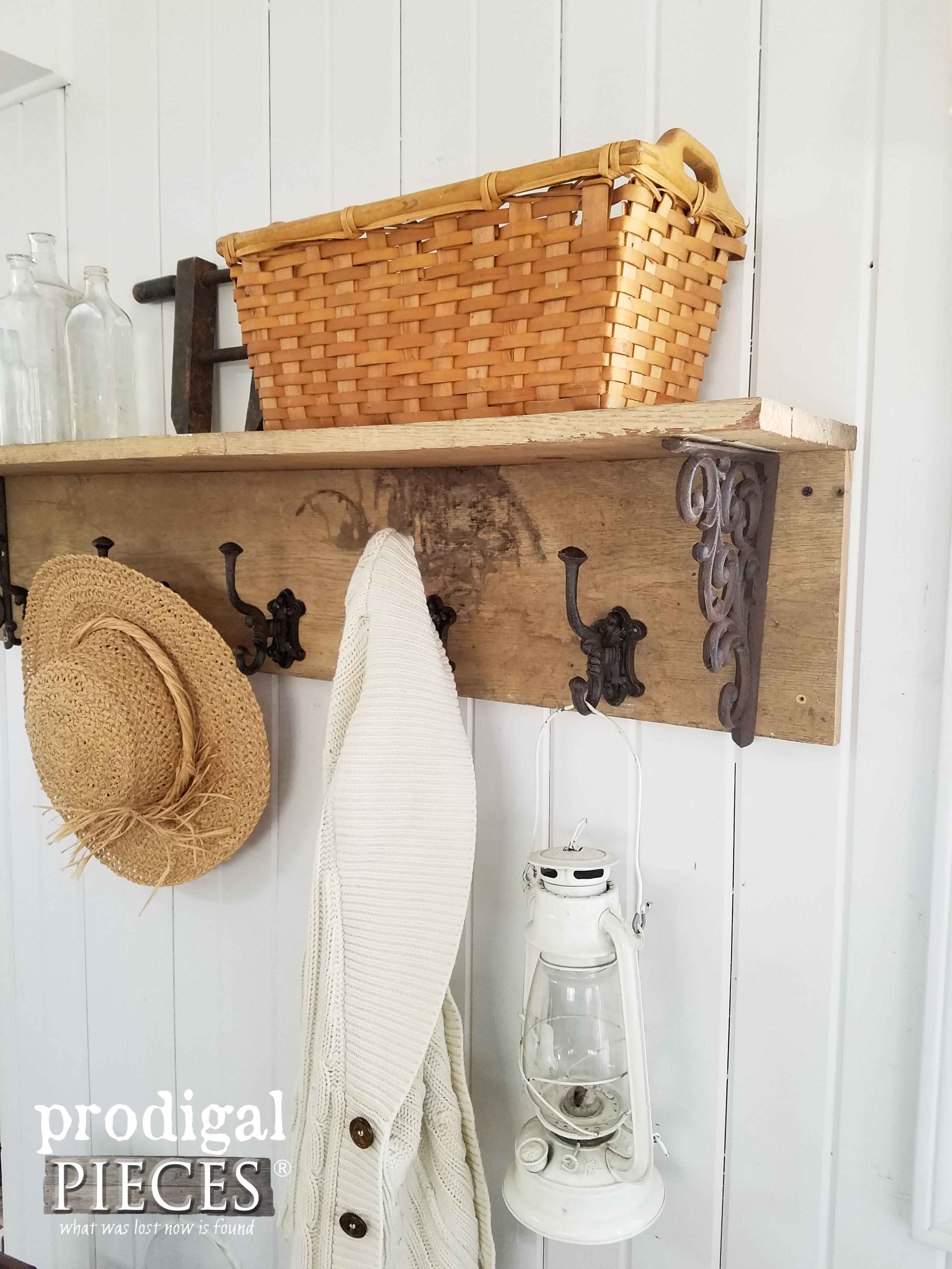 Reclaimed Barn Wood Coat Rack DIY By Prodigal Pieces