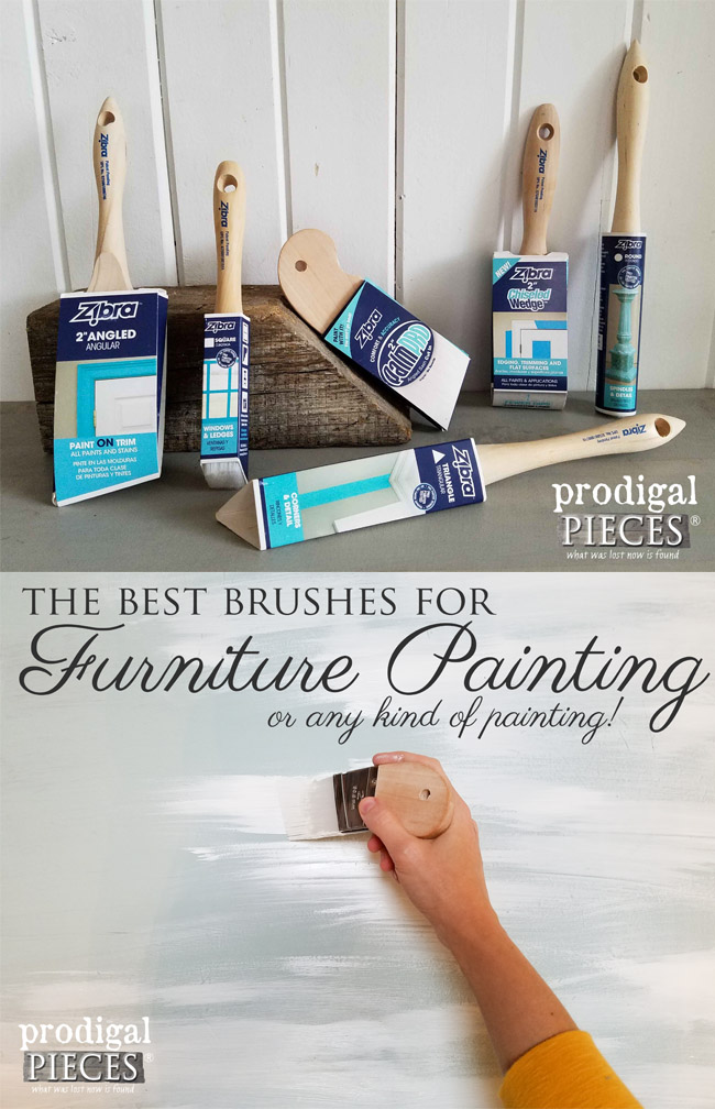 The best Paint Brushes for Furniture and Home | Prodigal Pieces | www.prodigalpieces.com
