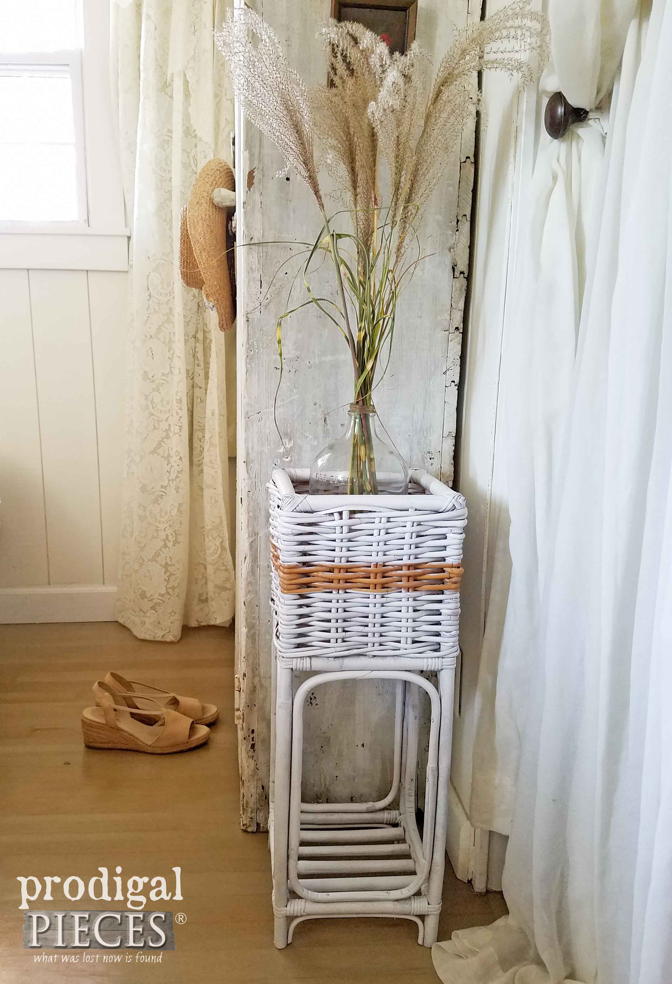 Repurposed Thrifted Plant Stand gets Farmhouse Chic Makeover by Prodigal Pieces | www.prodigalpieces.com