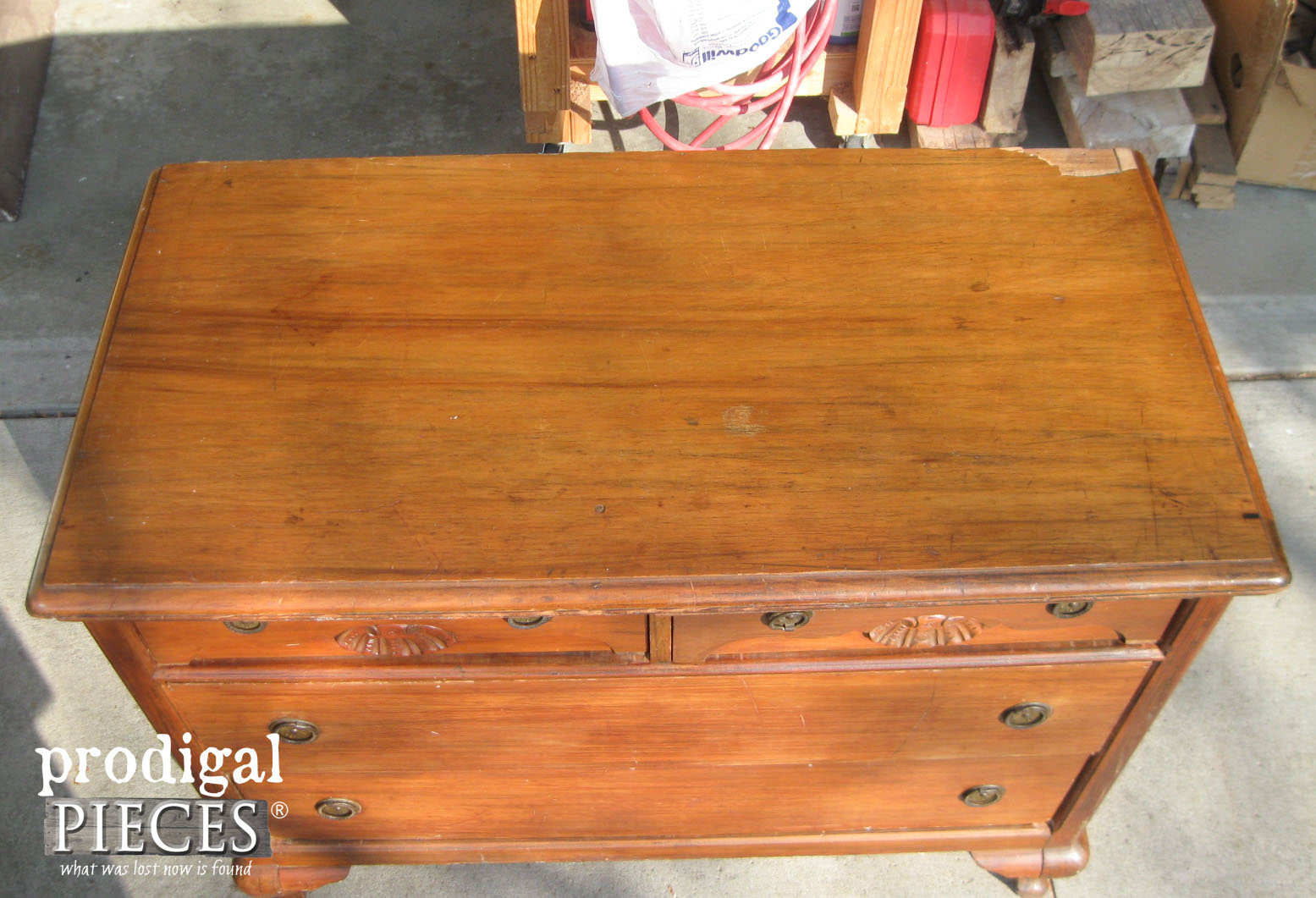 Damaged Dresser Top | Prodigal Pieces | www.prodigalpieces.com