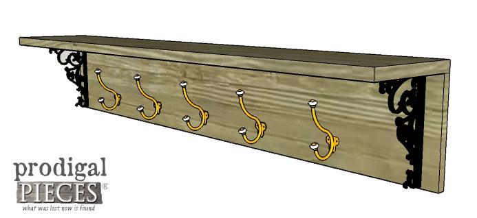 Finished DIY Coat Rack Towel Rack by Prodigal Pieces   www.prodigalpieces.com