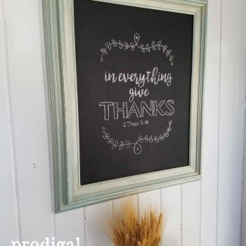 Side of Repurposed Vintage Chalkboard | Prodigal Pieces | www.prodigalpieces.com