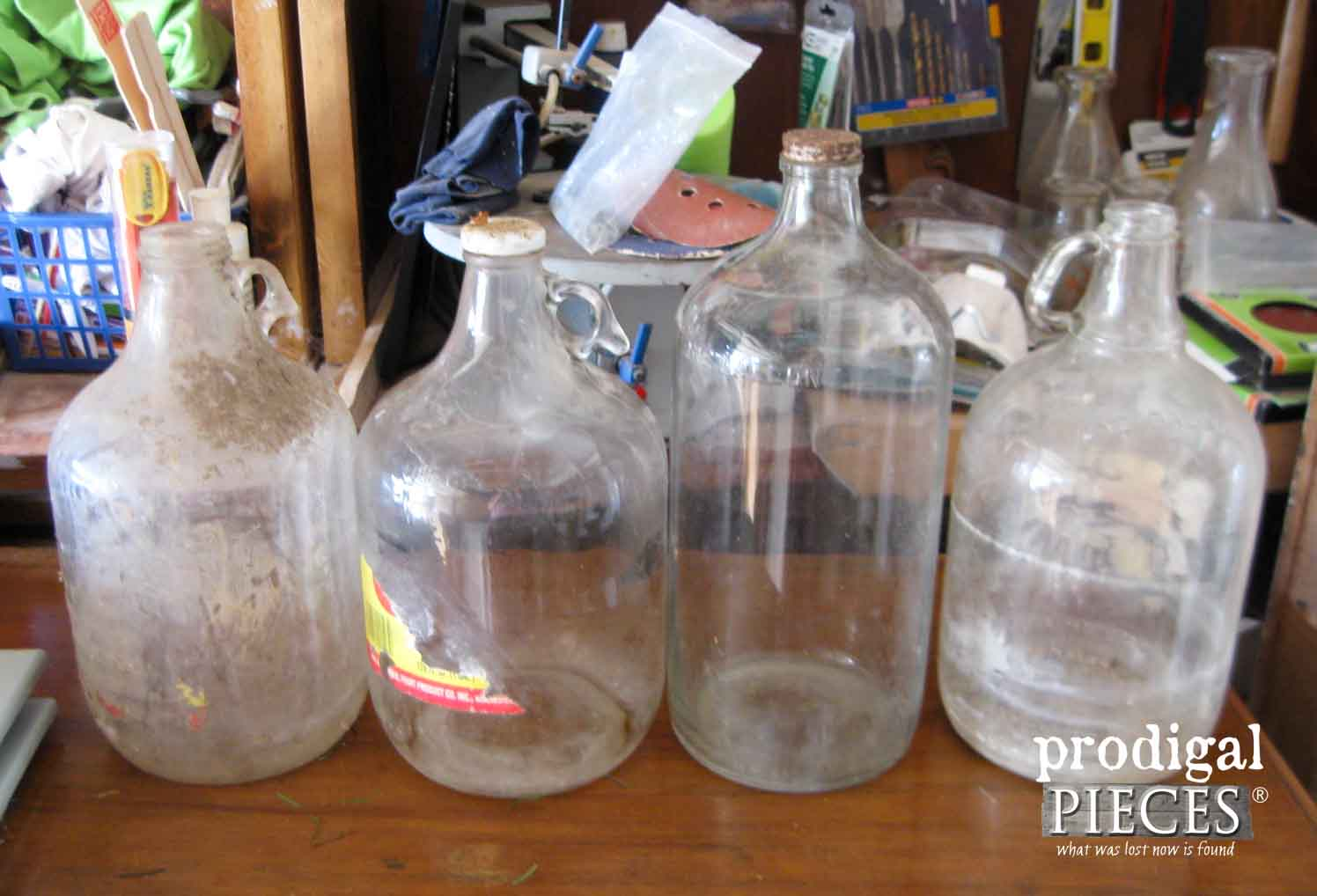 Collection of Glass Jars from an Ohio Barn Sale | Prodigal Pieces | www.prodigalpieces.com