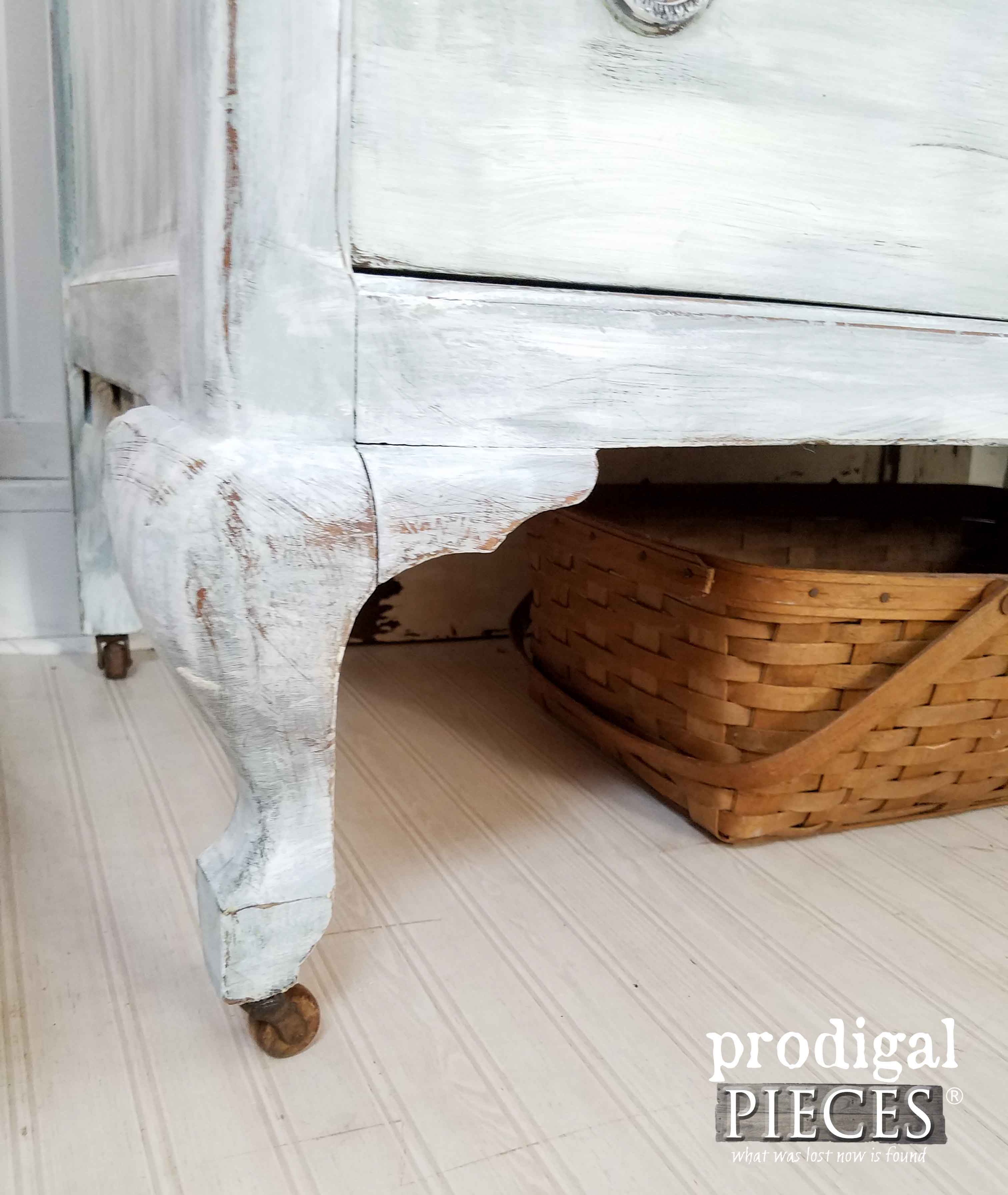 Queen Anne Leg on Farmhouse Chic Dresser by Prodigal Pieces | www.prodigalpieces.com