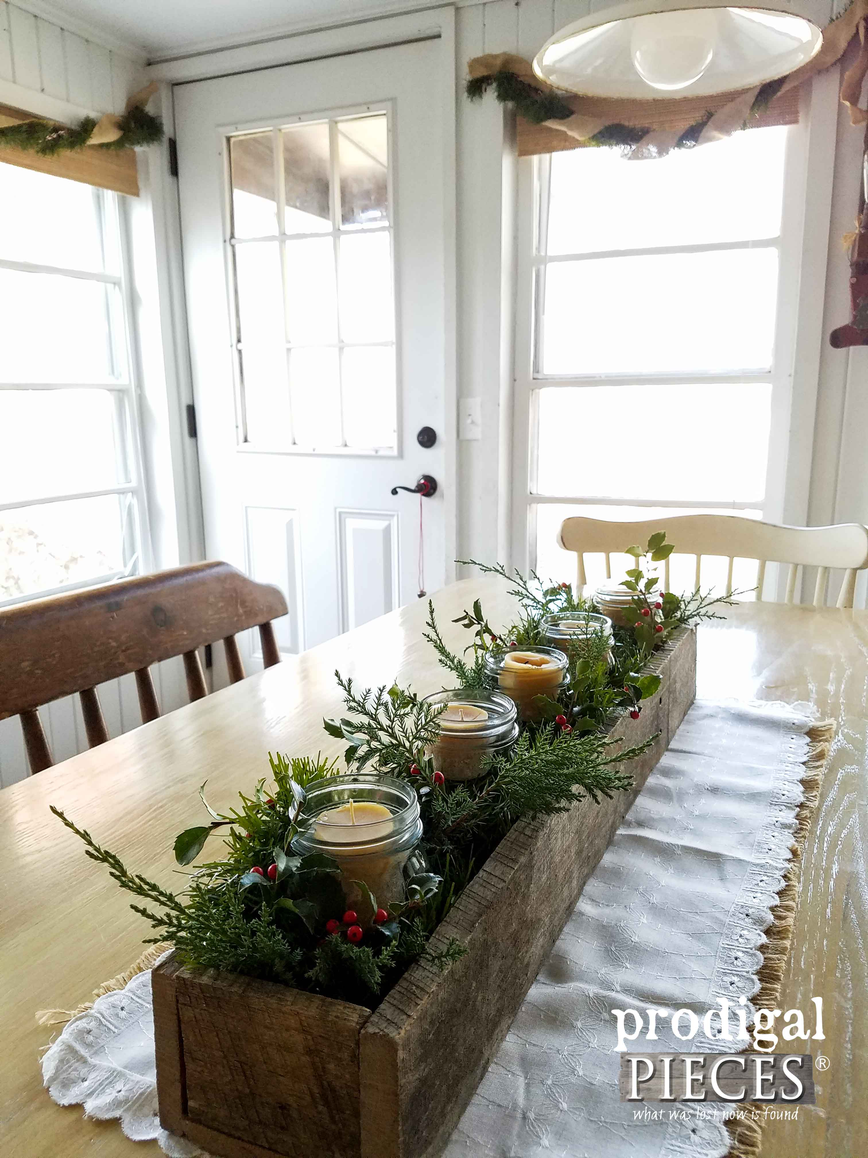 Reclaimed Wood Centerpiece for Simple Christmas Decor by Prodigal Pieces | www.prodigalpieces.com