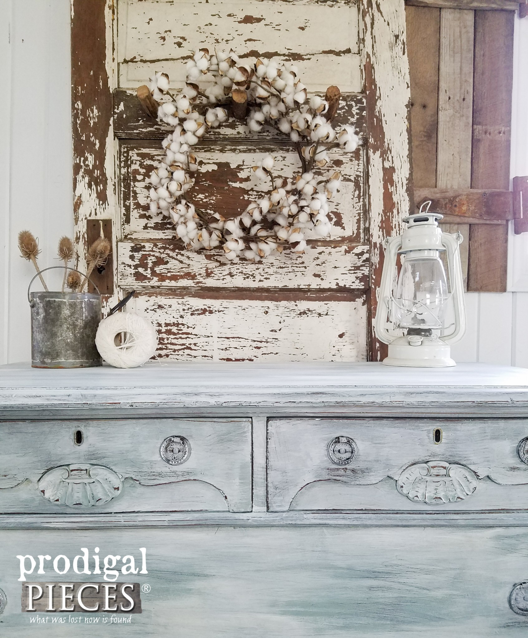 Rustic Farmhouse Chic Dresser by Prodigal Pieces | www.prodigalpieces.com