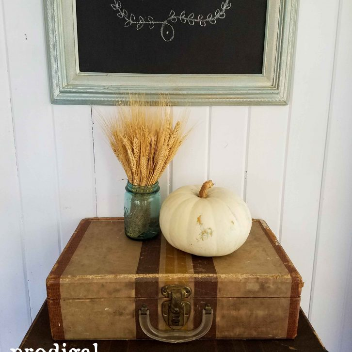 Vintage Luggage Vingnette with Chalkboard | Prodigal Pieces | www.prodigalpieces.com