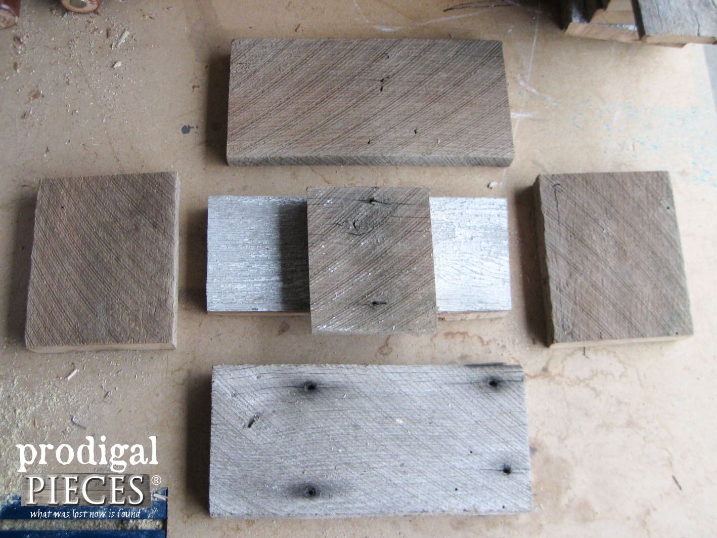 Barn Wood Pieces Cut for Wooden Caddy | Prodigal Pieces | www.prodigalpieces.com