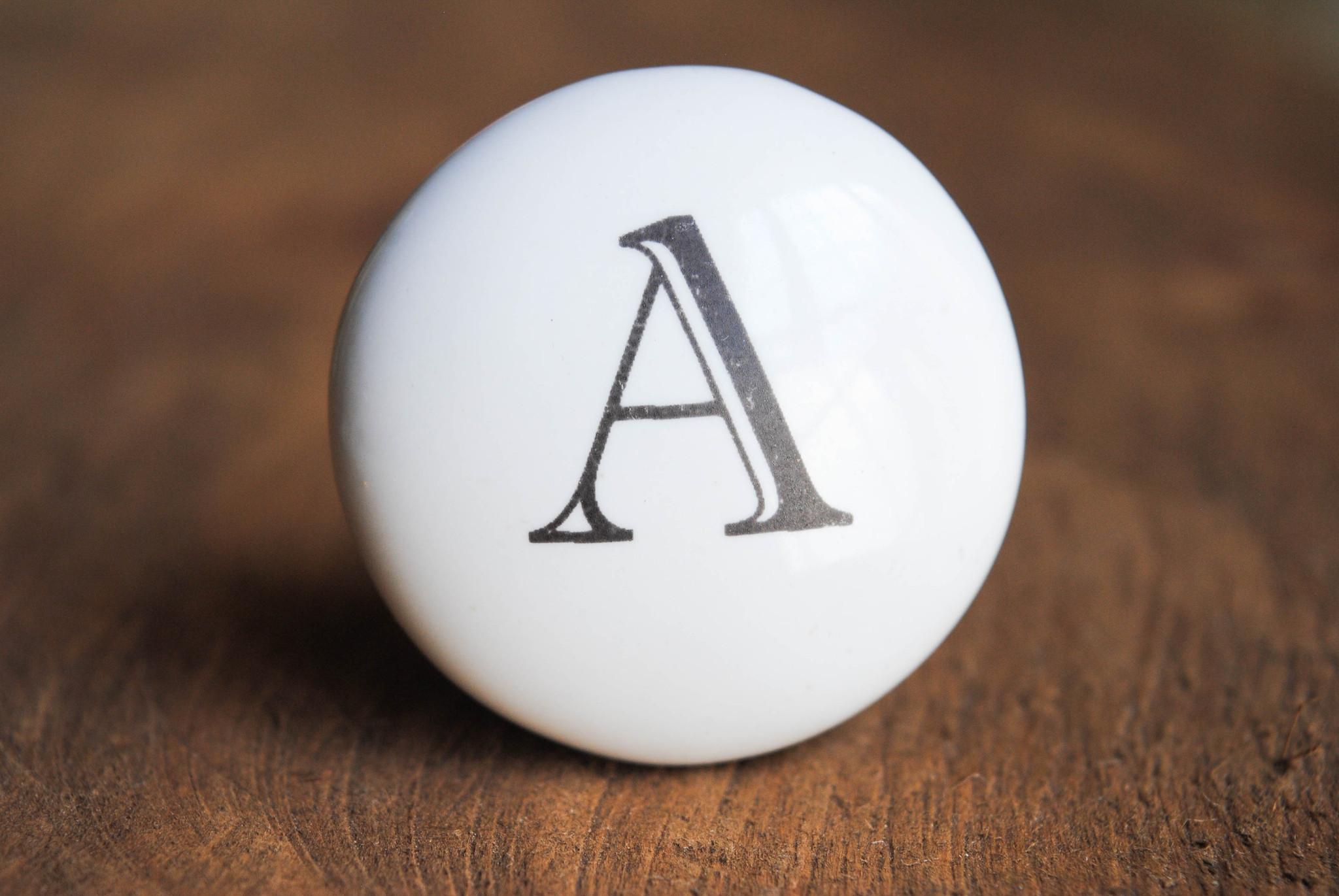 Ceramic Alphabet Knobs by Rustic Brands via Prodigal Pieces | prodigalpieces.com
