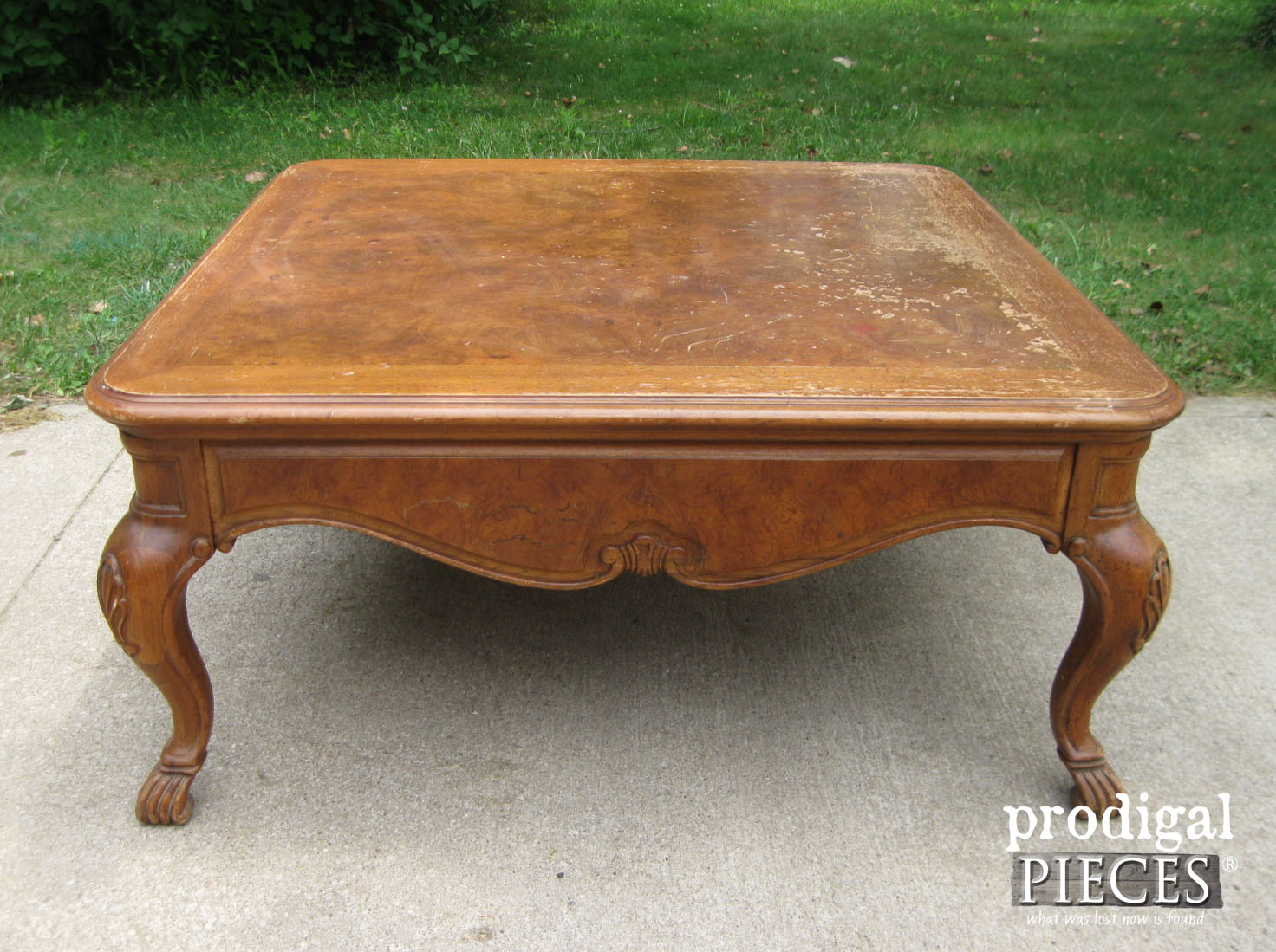 Marvelous Coffee Table Makeover With French Country Style Prodigal Ncnpc Chair Design For Home Ncnpcorg