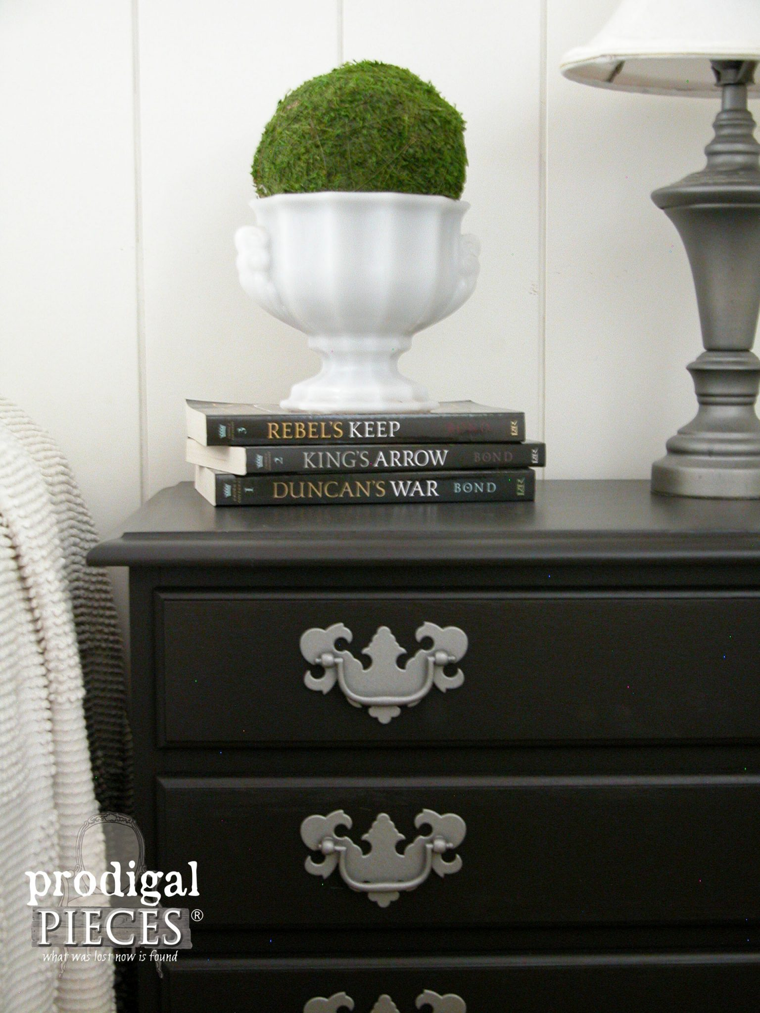 Corner View of Nightstand Makeover | Prodigal Pieces | prodigalpieces.com
