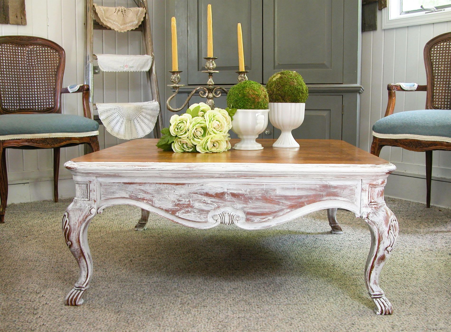 Featured French Country Coffee Table Makeover by Prodigal Pieces | prodigalpieces.com