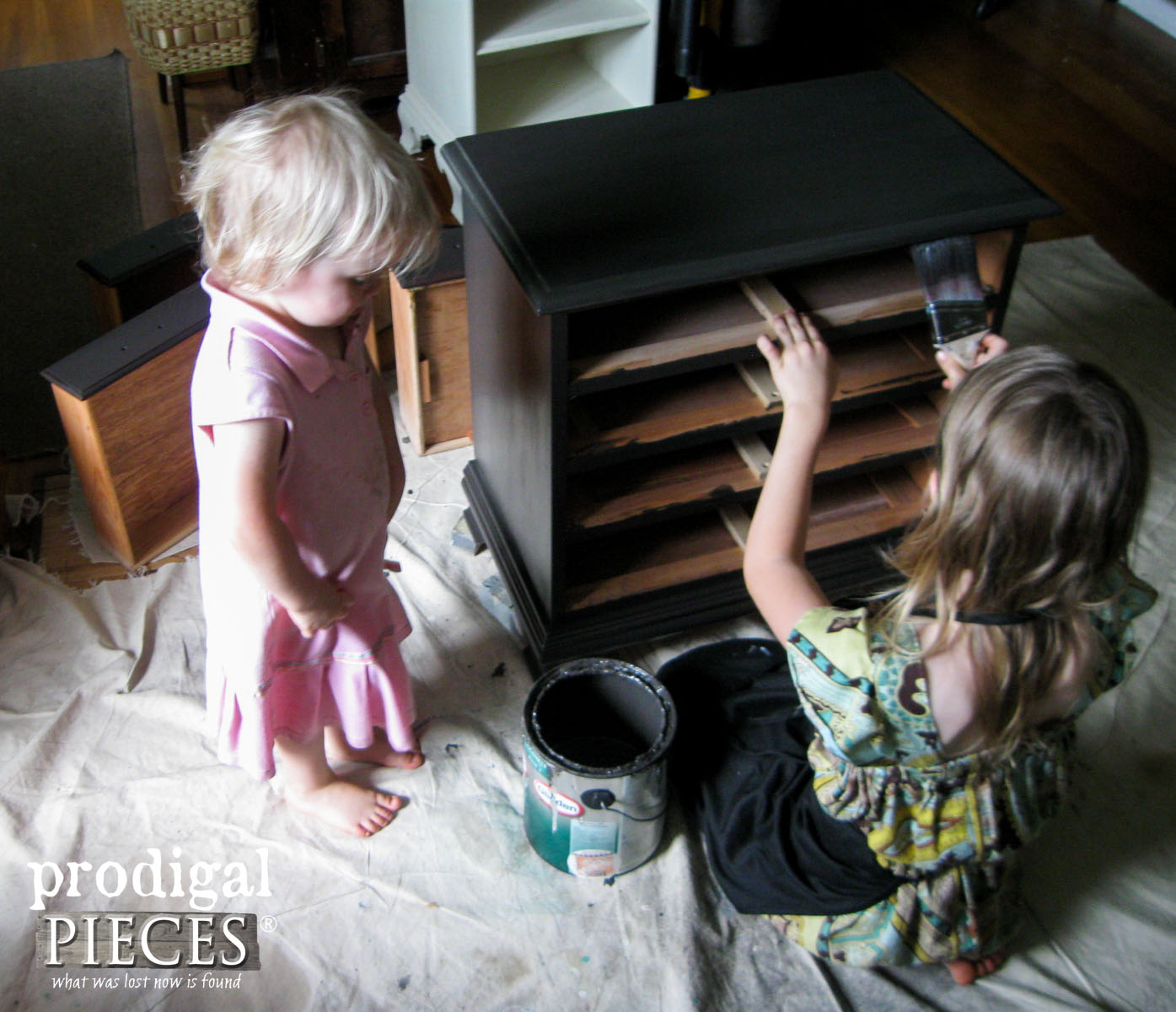 Girl Painting Nightstand | Prodigal Pieces | prodigalpieces.com