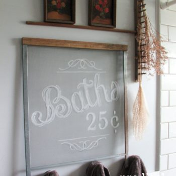 Hand Painted Farmhouse Screen Art