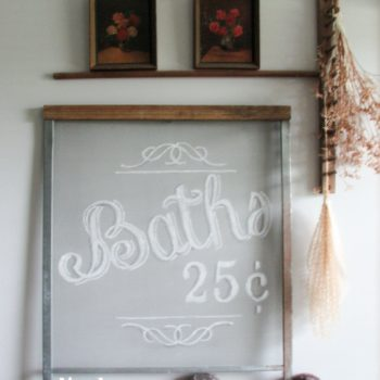 Repurposed Farmhouse Screen Art by Prodigal Pieces | prodigalpieces.com