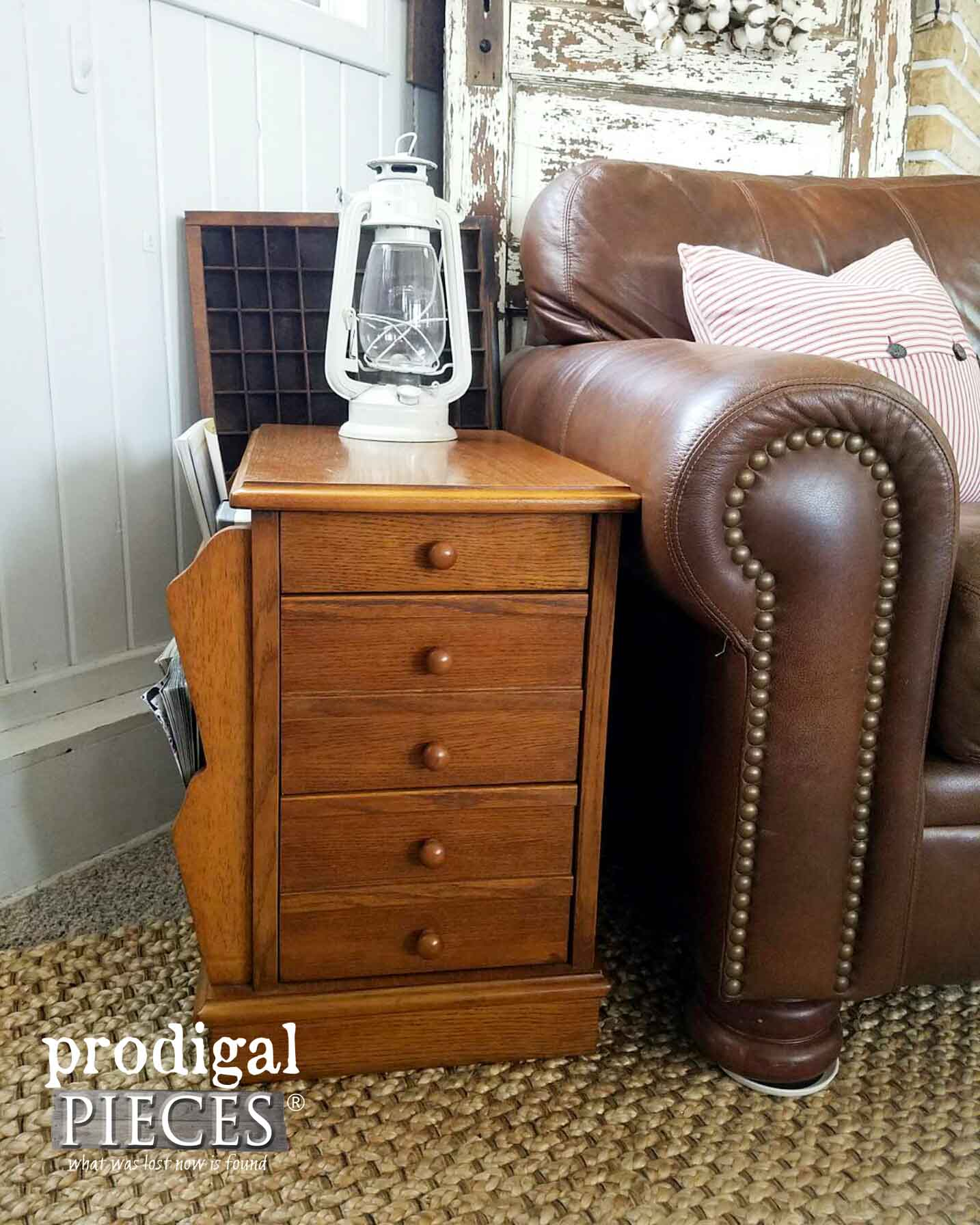 Side Table Before Vintage Chic Makeover by Prodigal Pieces | prodigalpieces.com