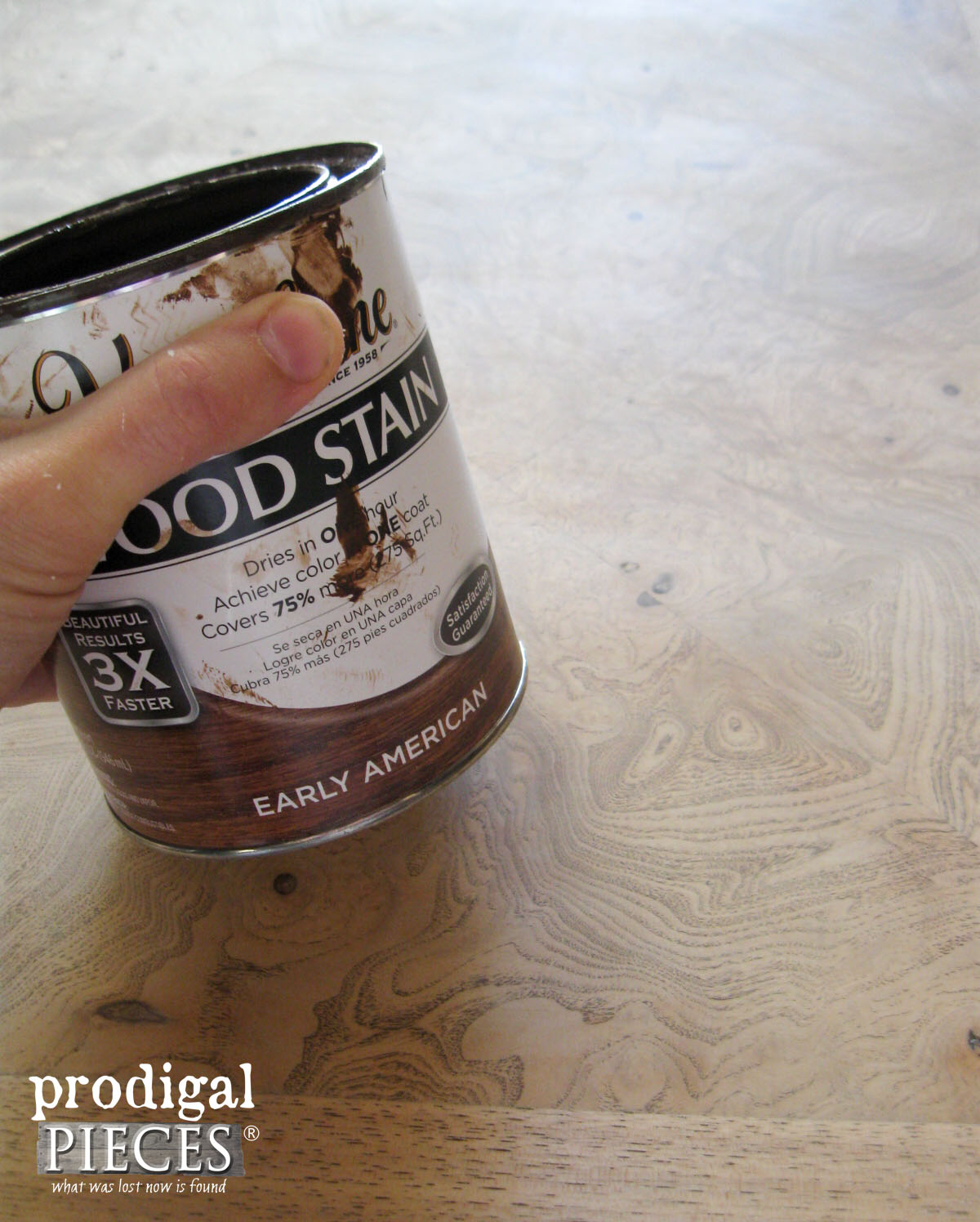 Rust-Oleum Early American Stain for Table Top | Prodigal Pieces | prodigalpieces.com