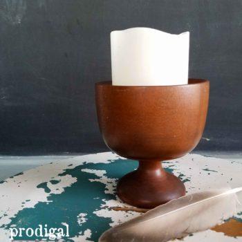 Vintage Wooden Urn Pedestal Cup | Prodigal Pieces | prodigalpieces.com