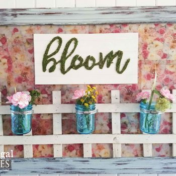 """""""Bloom"""" Wall Art with Ball Jar Vases and Repurposed Parts by Prodigal Pieces 