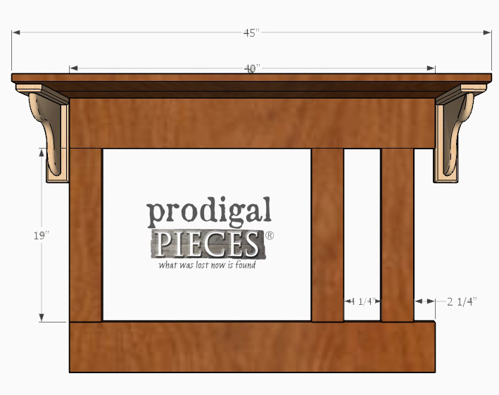 Adding Corbels to Entry Storage | Prodigal Pieces | prodigalpieces.com