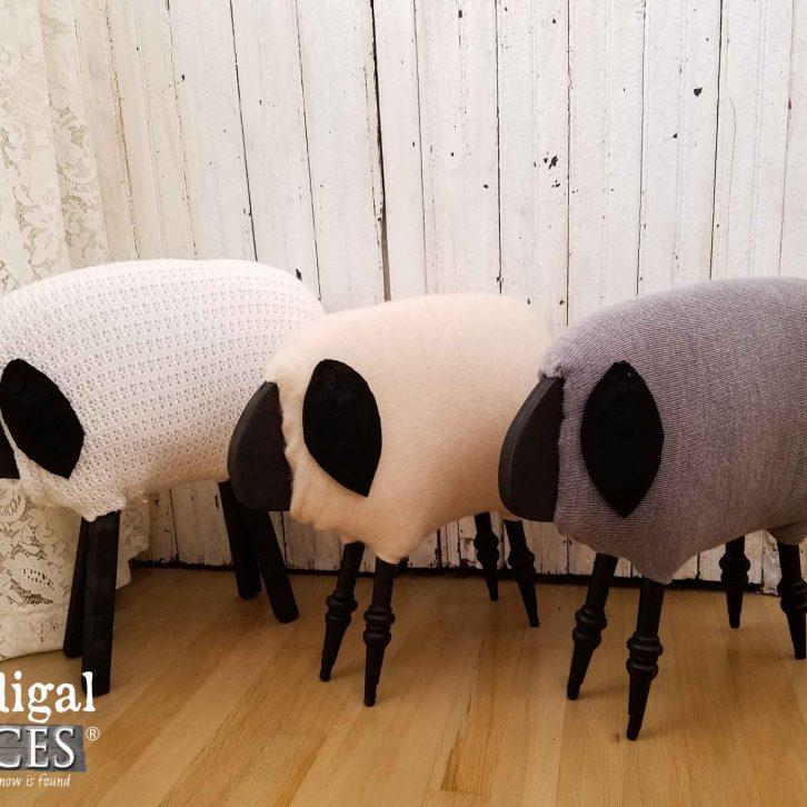DIY Repurposed Farmhouse Sheep by Prodigal Pieces | prodigalpieces.com