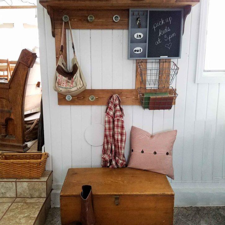 Farmhouse Coat Rack with Storage Building Plans by Prodigal Pieces | prodigalpieces.com