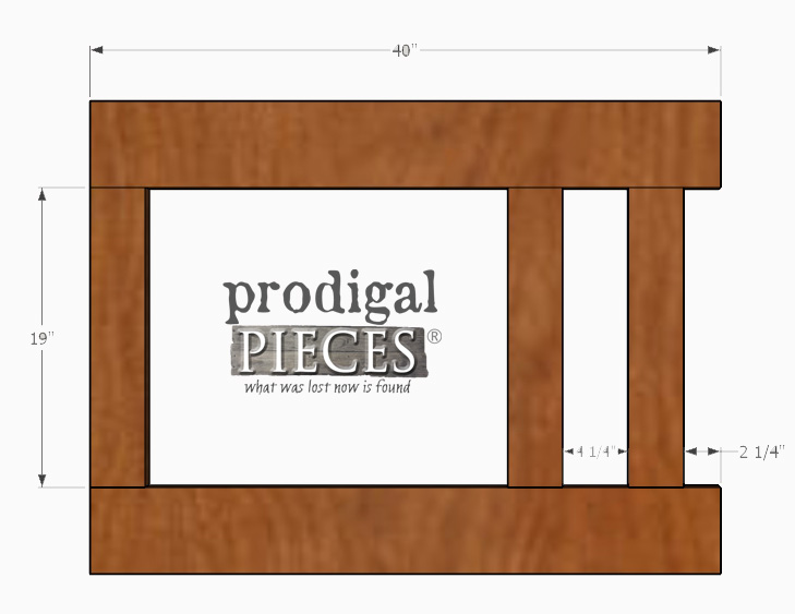 Layout of DIY Entry Storage Building Plans by Prodigal Pieces | prodigalpieces.com