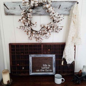 Life is Better on the Farm Sign ~ Farmhouse Vignette by Prodigal Pieces | prodigalpieces.com