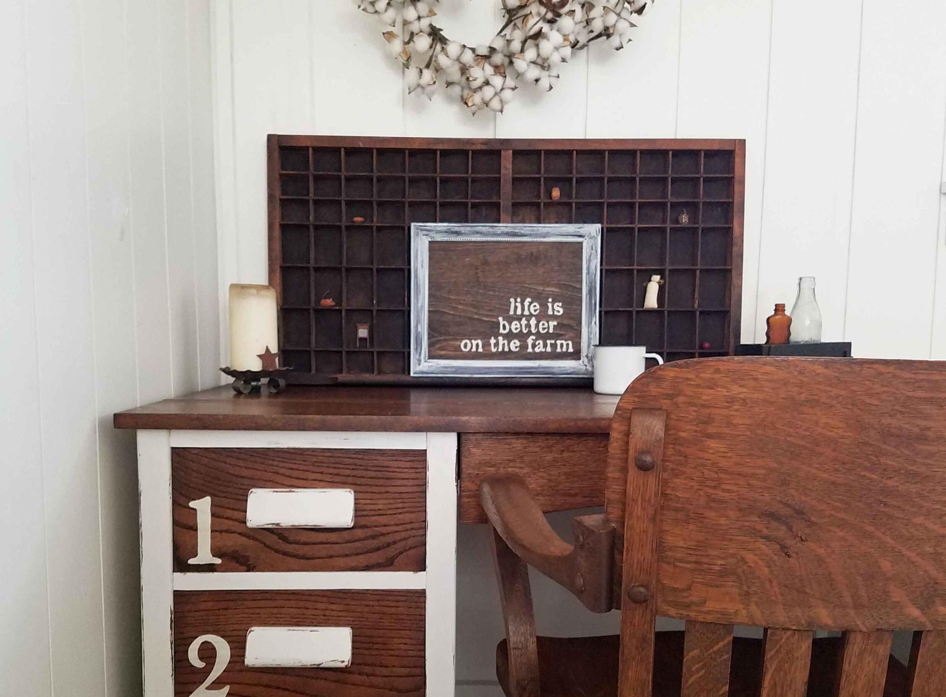 Featured Oak Industrial Desk by Prodigal Pieces | prodigalpieces.com