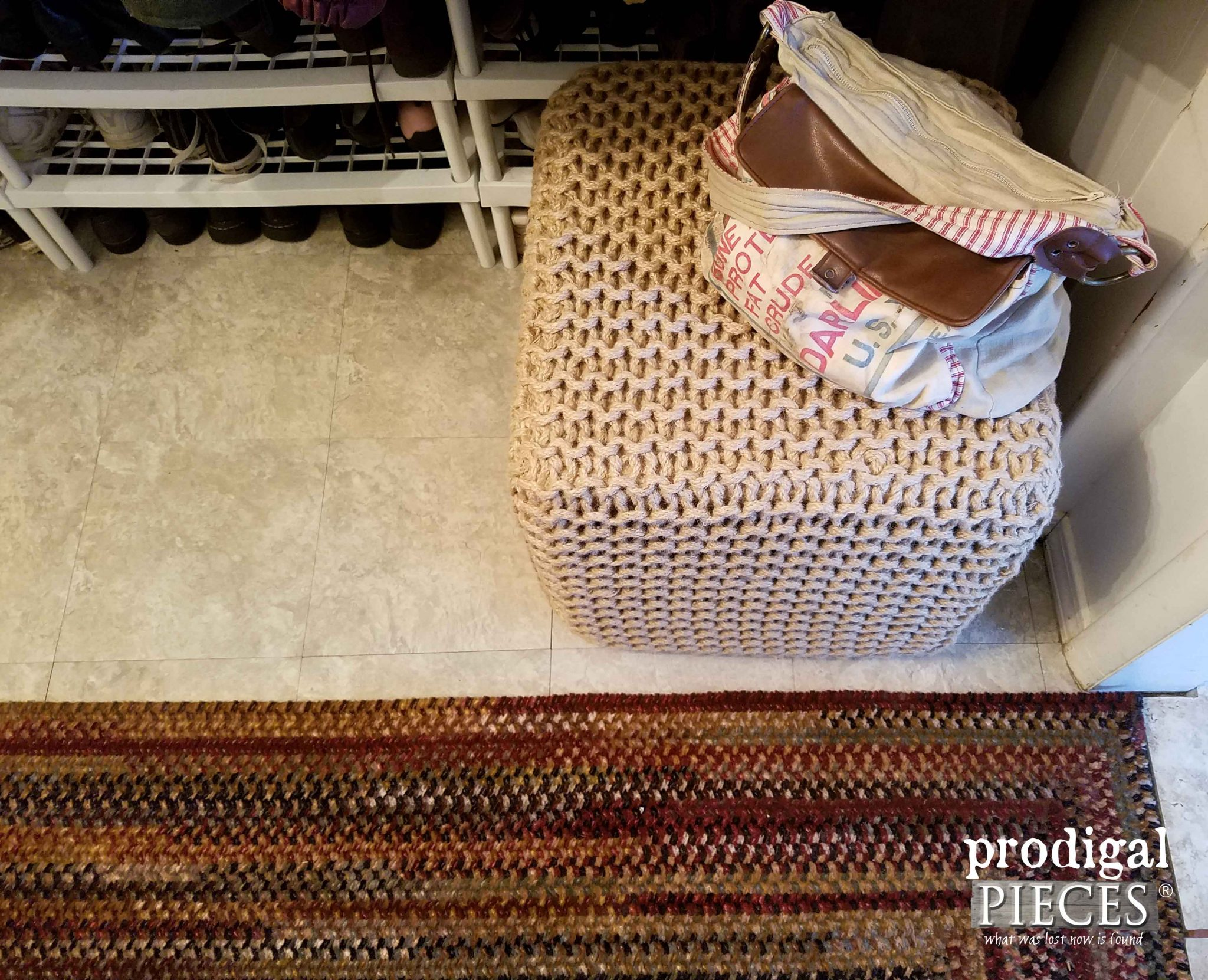 Natural Jute Ottoman | Prodigal Pieces | prodigalpieces.com
