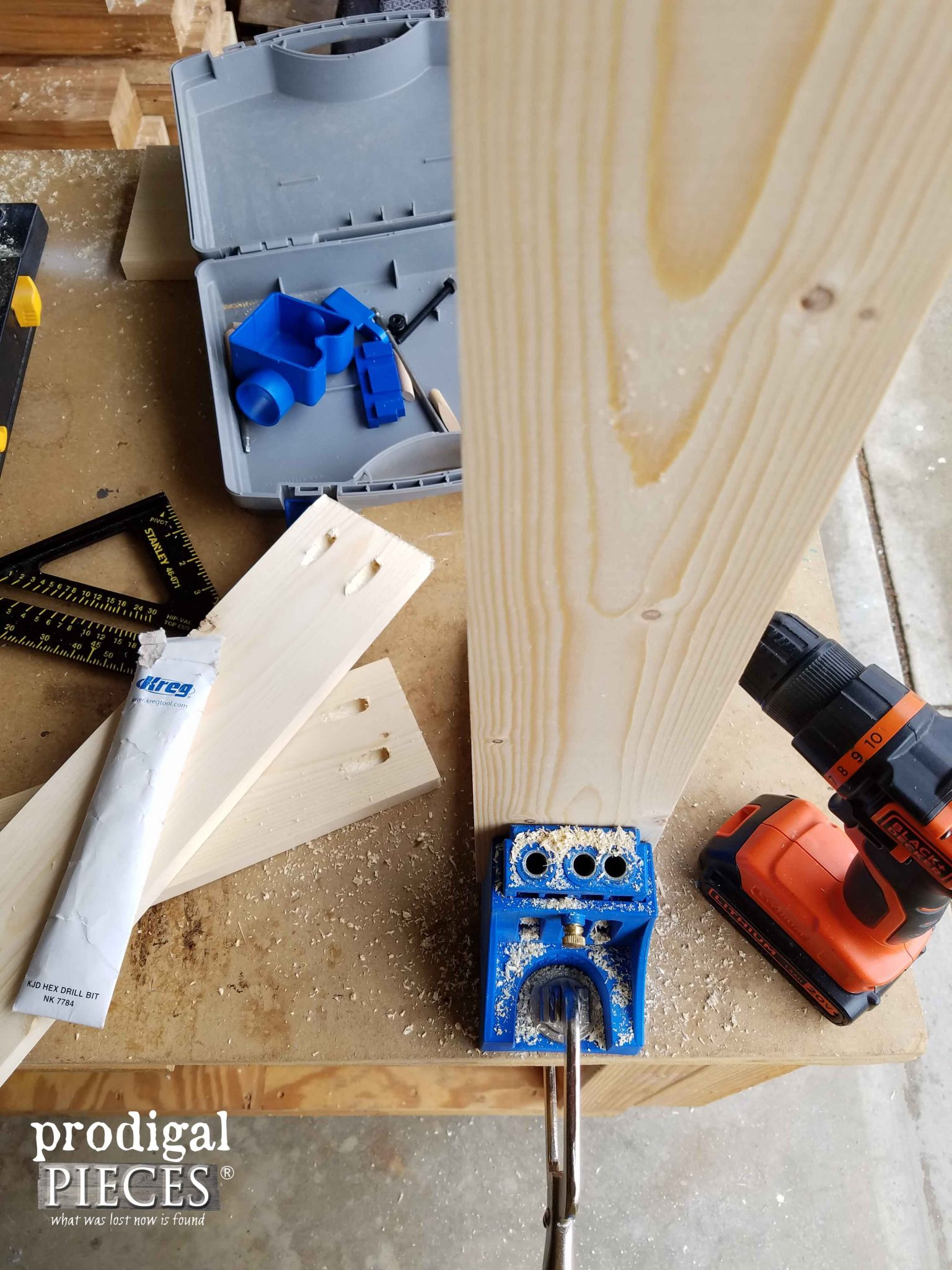 Kreg JIg for Pocket Hole Joinery | Prodigal Pieces | prodigalpieces.com