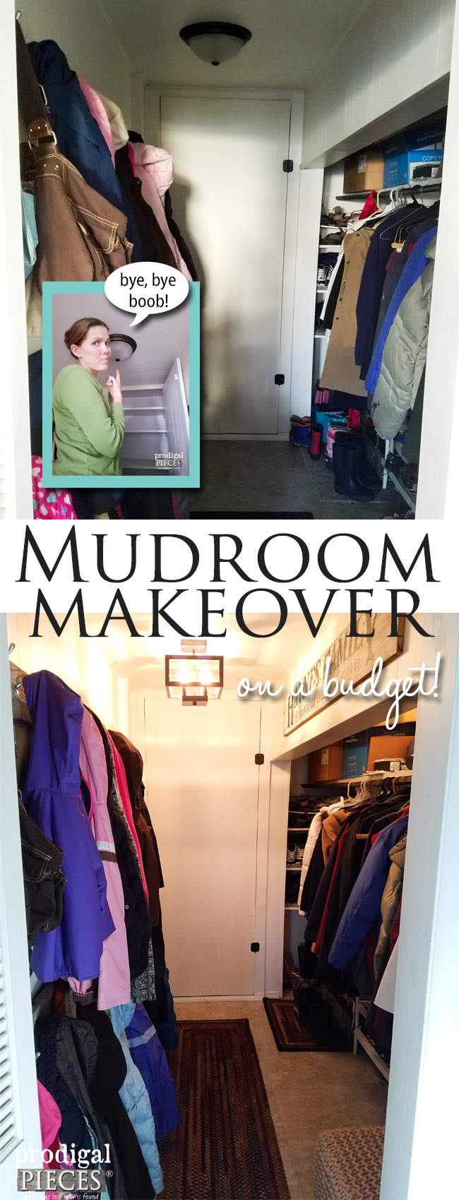 Don't Let a Budget Get in Your Way of Making Updates. Simple Fixes Can be Done! Mudroom Makeover by Prodigal Pieces | prodigalpieces.com