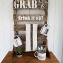 Repurposed Pallet Mug Rack by Prodigal Pieces | prodigalpieces.com