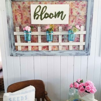"Bloom Wall Art from Repurposed Materials. A ""Bloom"" Fun Design by Prodigal Pieces 