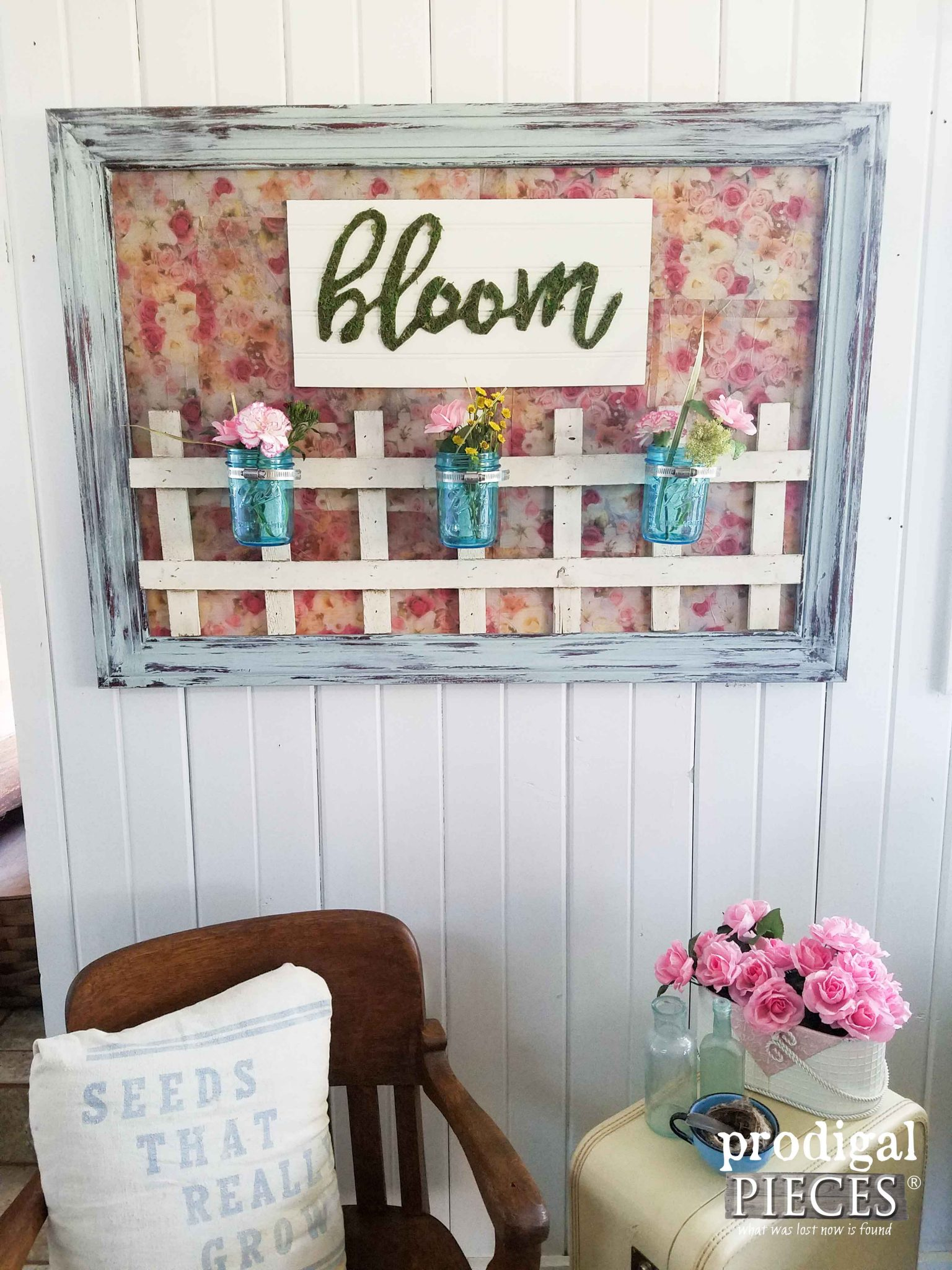 "Wall Art from Repurposed Materials. A ""Bloom"" Fun Design by Prodigal Pieces 