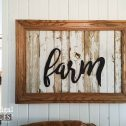 "Reclaimed Wood ""Farm"" Sign by Prodigal Pieces 
