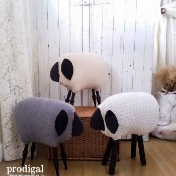 Handmade Woolly Sheep by Prodigal Pieces | prodigalpieces.com