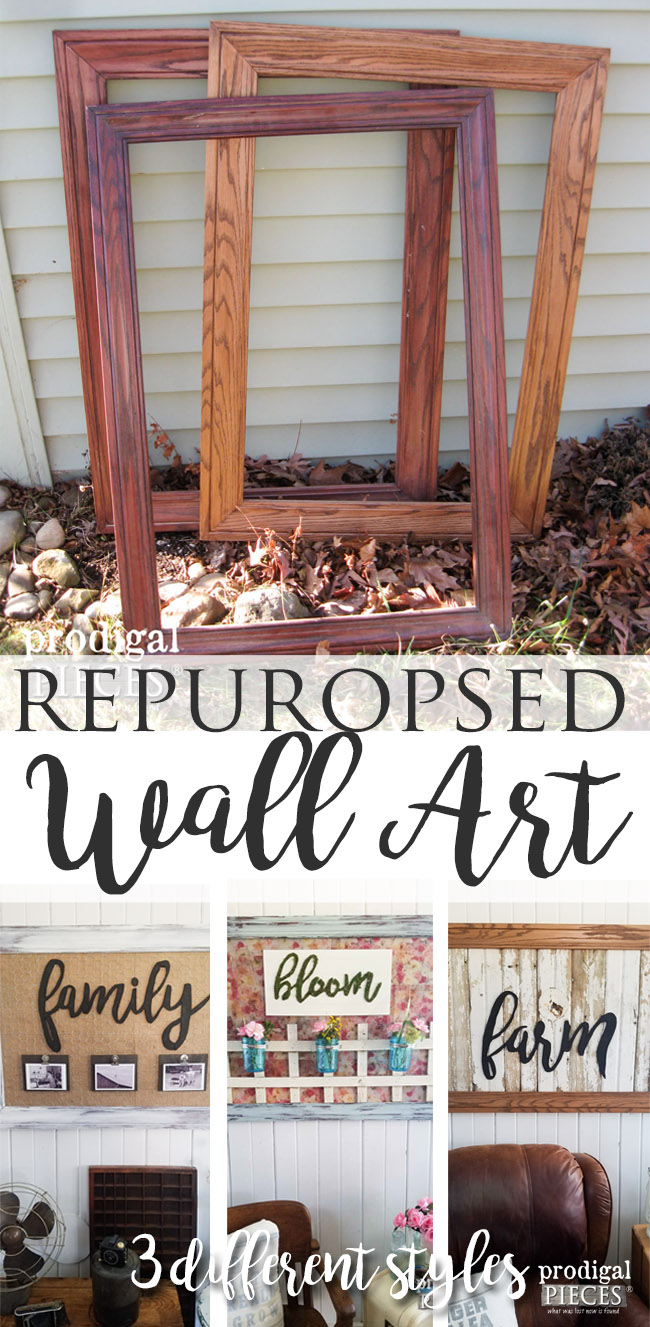 Repurposed Wall Art from Reclaimed Materials and Free Frames by Prodigal Pieces | prodigalpieces.com