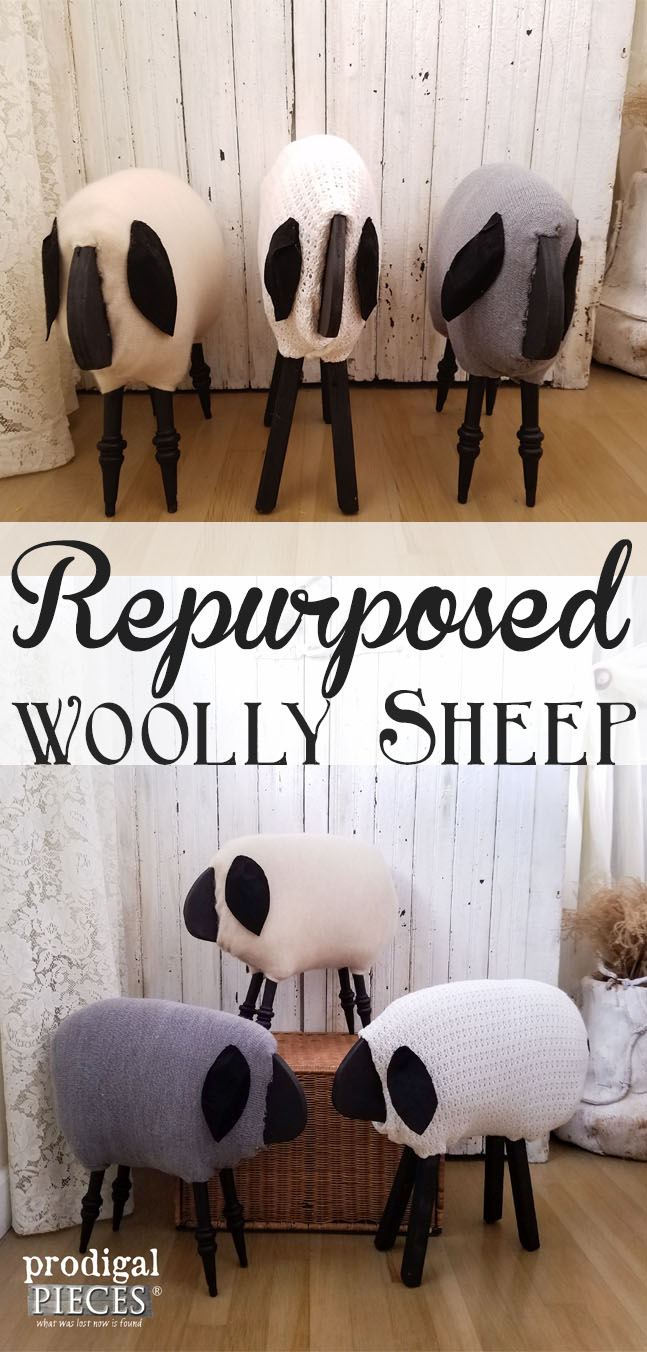 Woolly Sheep Made from Repurposed Materials by Prodigal Pieces | prodigapieces.com