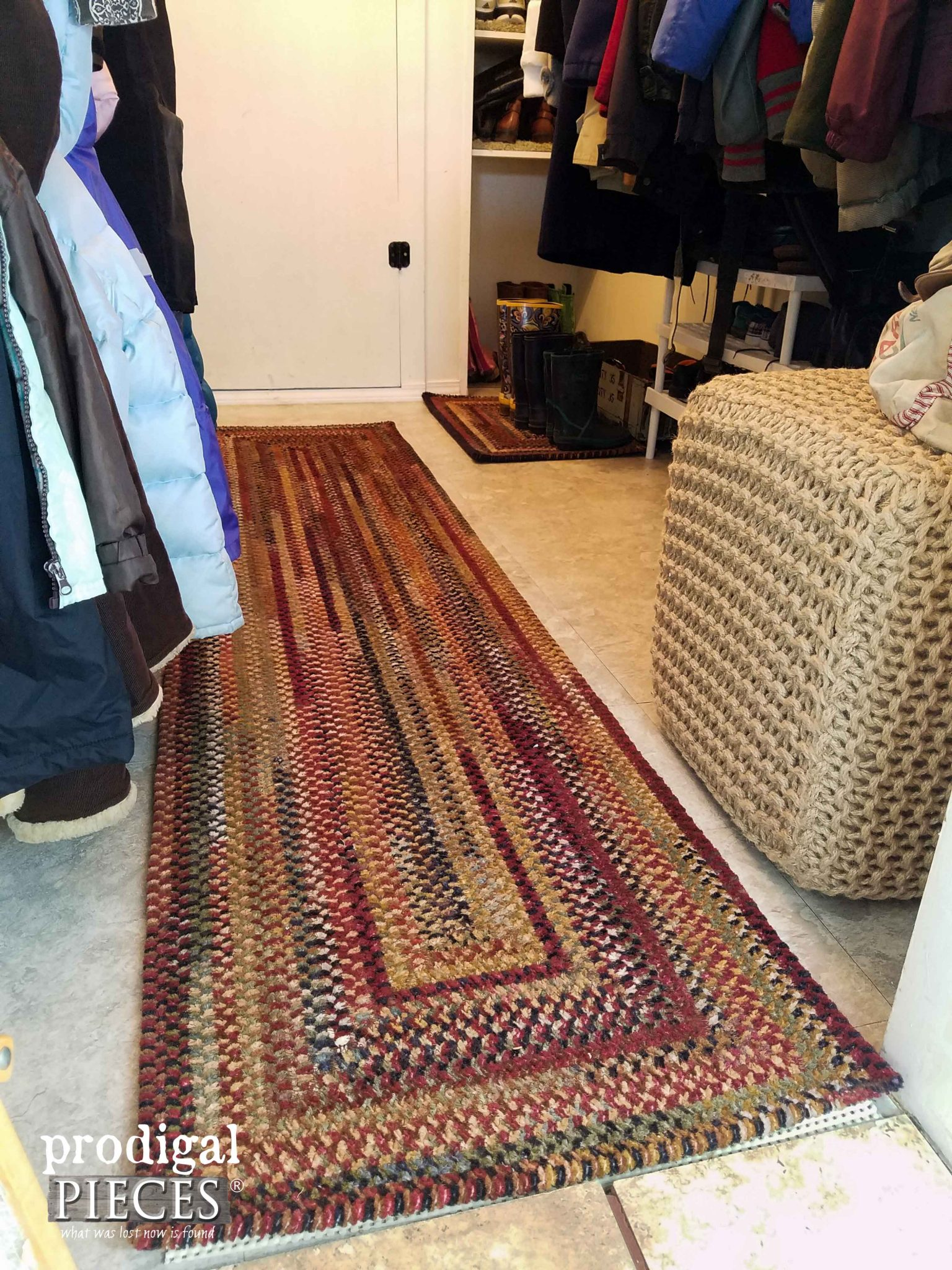 Braided Rug Runner for Mudroom | Prodigal Pieces | prodigalpieces.com