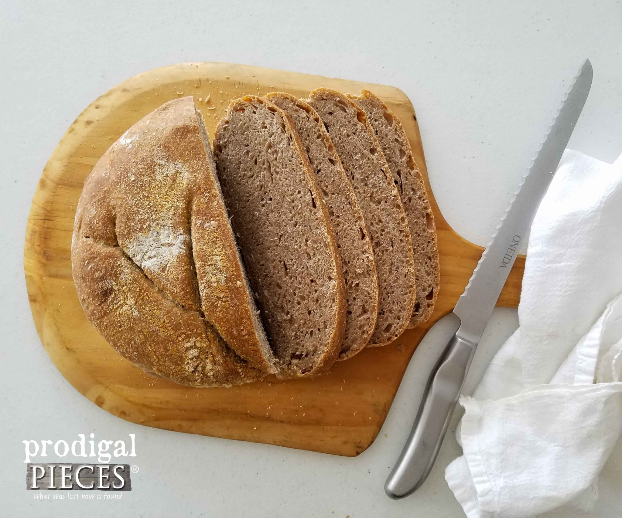 Sliced No-Knead Wheat Bread | Prodigal Pieces | prodigalpieces.com