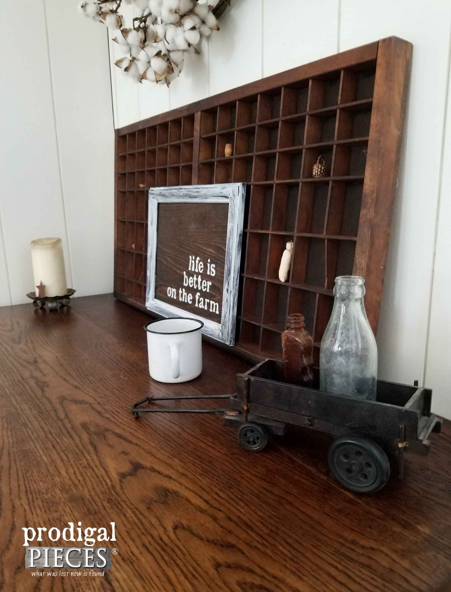 Desk Made New with Industrial Farmhouse Flair by Prodigal Pieces | prodigalpieces.com