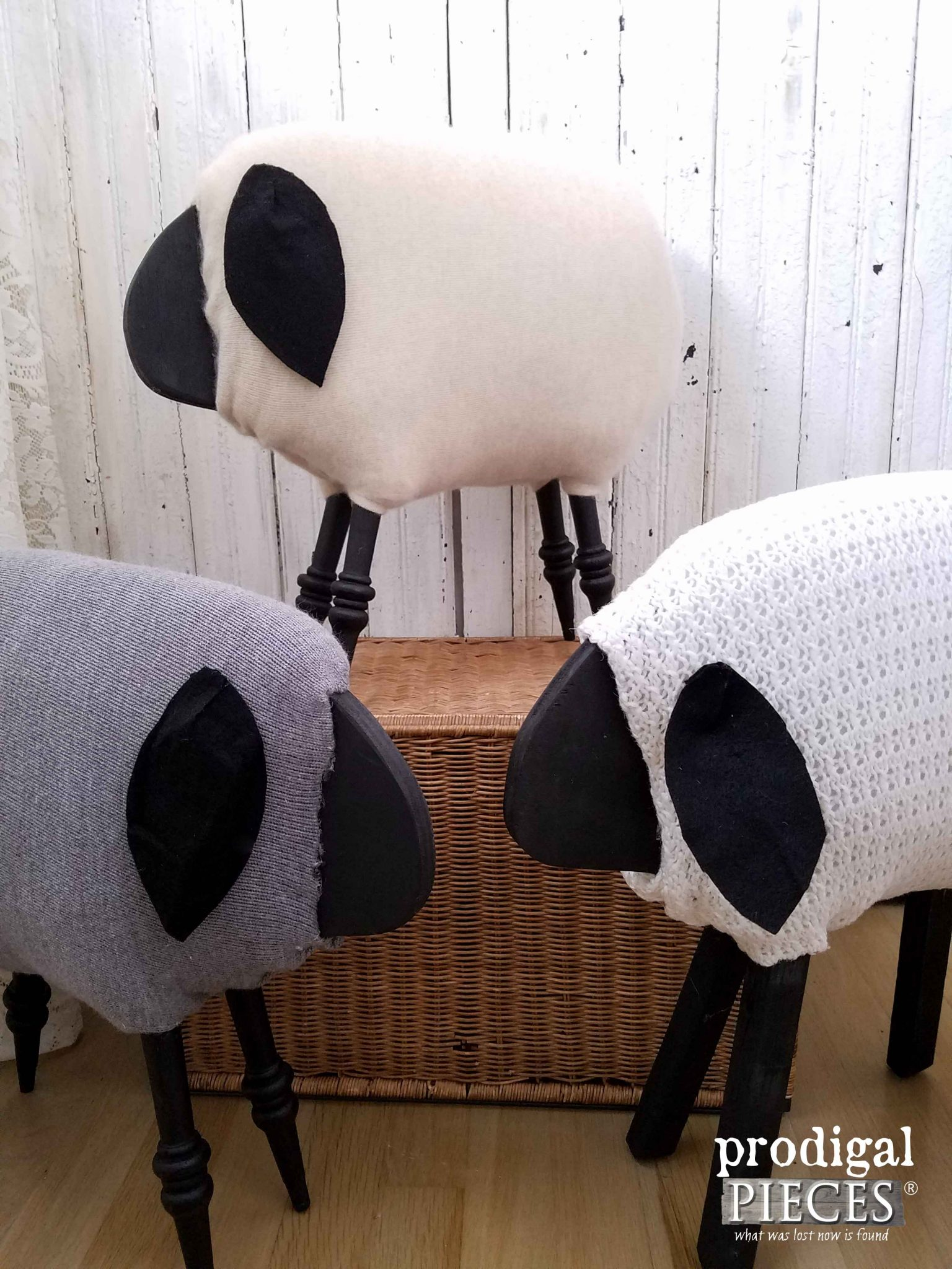 Collection of Repurposed Woolly Sheep by Prodigal Pieces | prodigalpieces.com