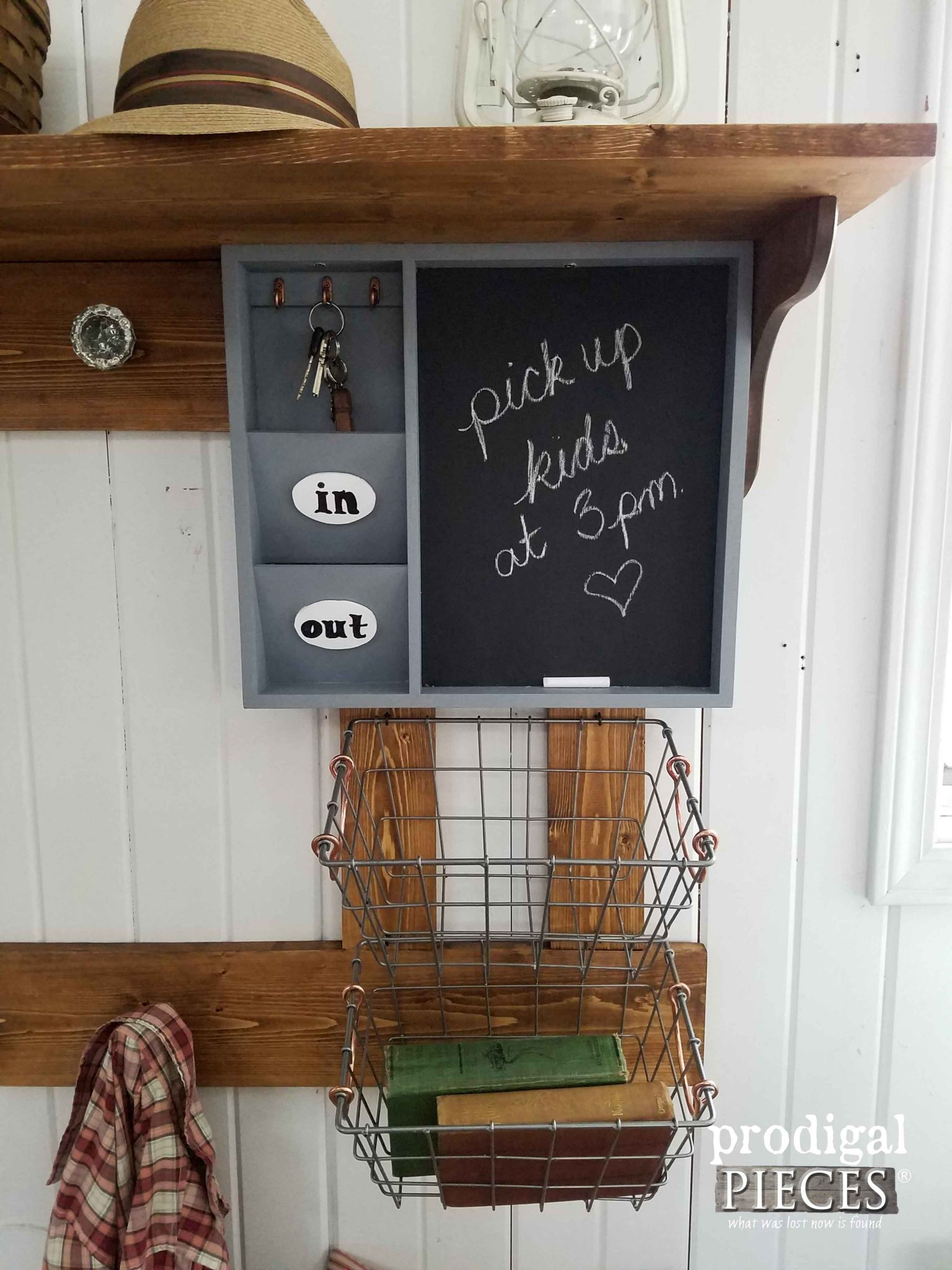 Thrifted Entry Organization with DIY Plans by Prodigal Pieces | prodigalpieces.com