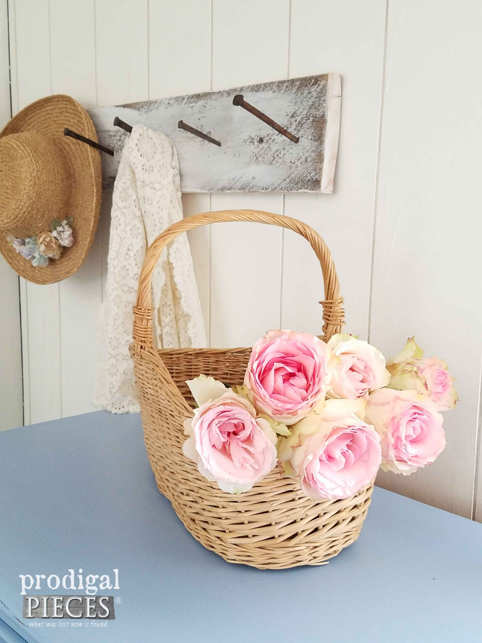 Basket of Roses in Girl's Bedroom | Prodigal Pieces | prodigalpieces.com