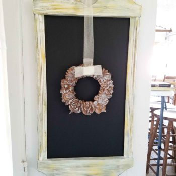 Thrifted Frame Repurposed into Rustic Wooden Chalkboard by Prodigal Pieces | prodigalpieces.com