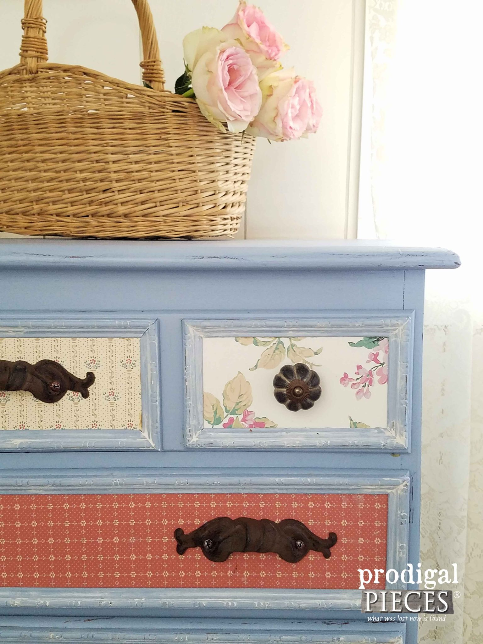 Corner of Vintage Chest Makeover by Prodigal Pieces | prodigalpieces.com