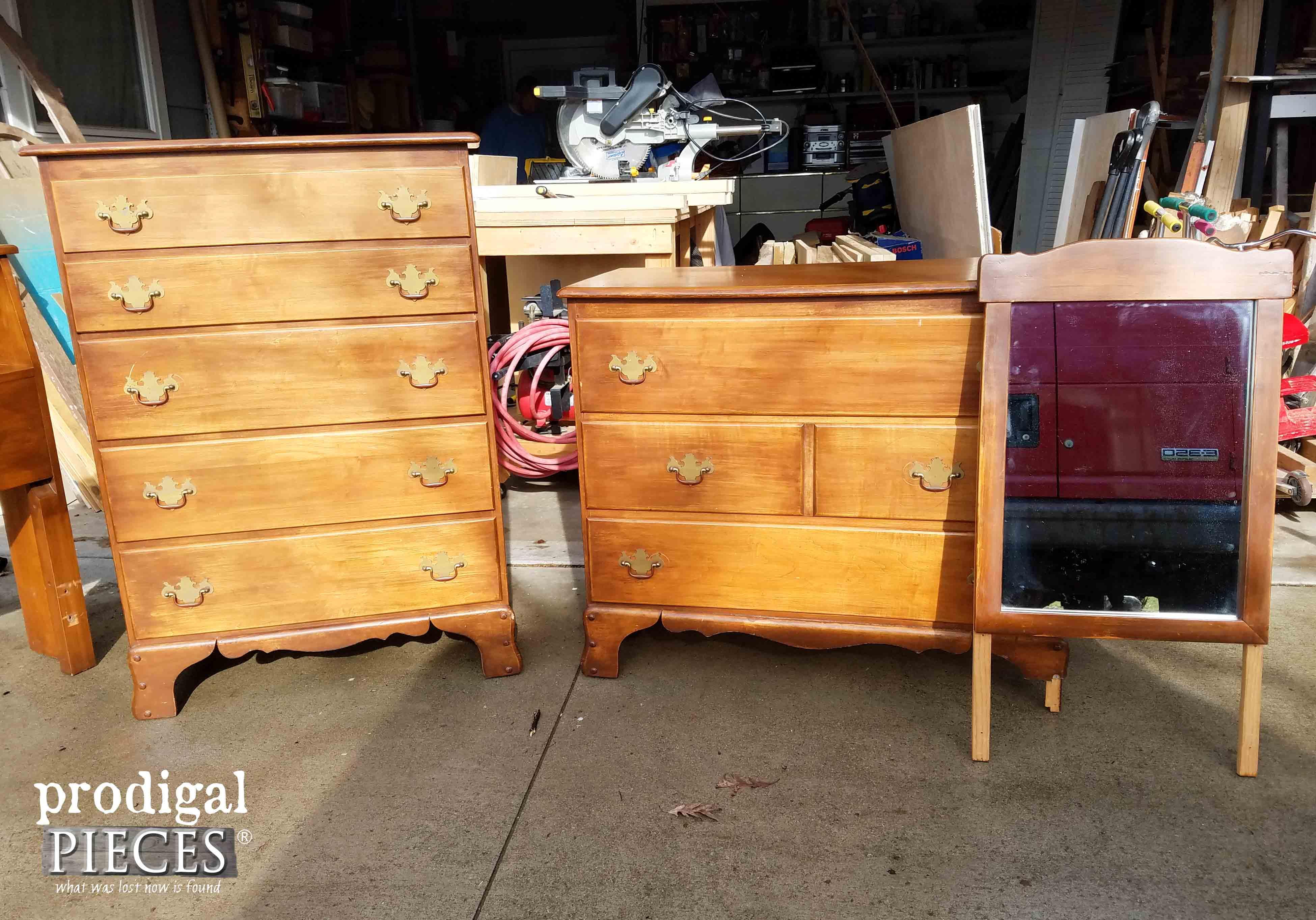 Vintage Child's Chest & Dresser Set | Prodigal Pieces | prodigalpieces.com