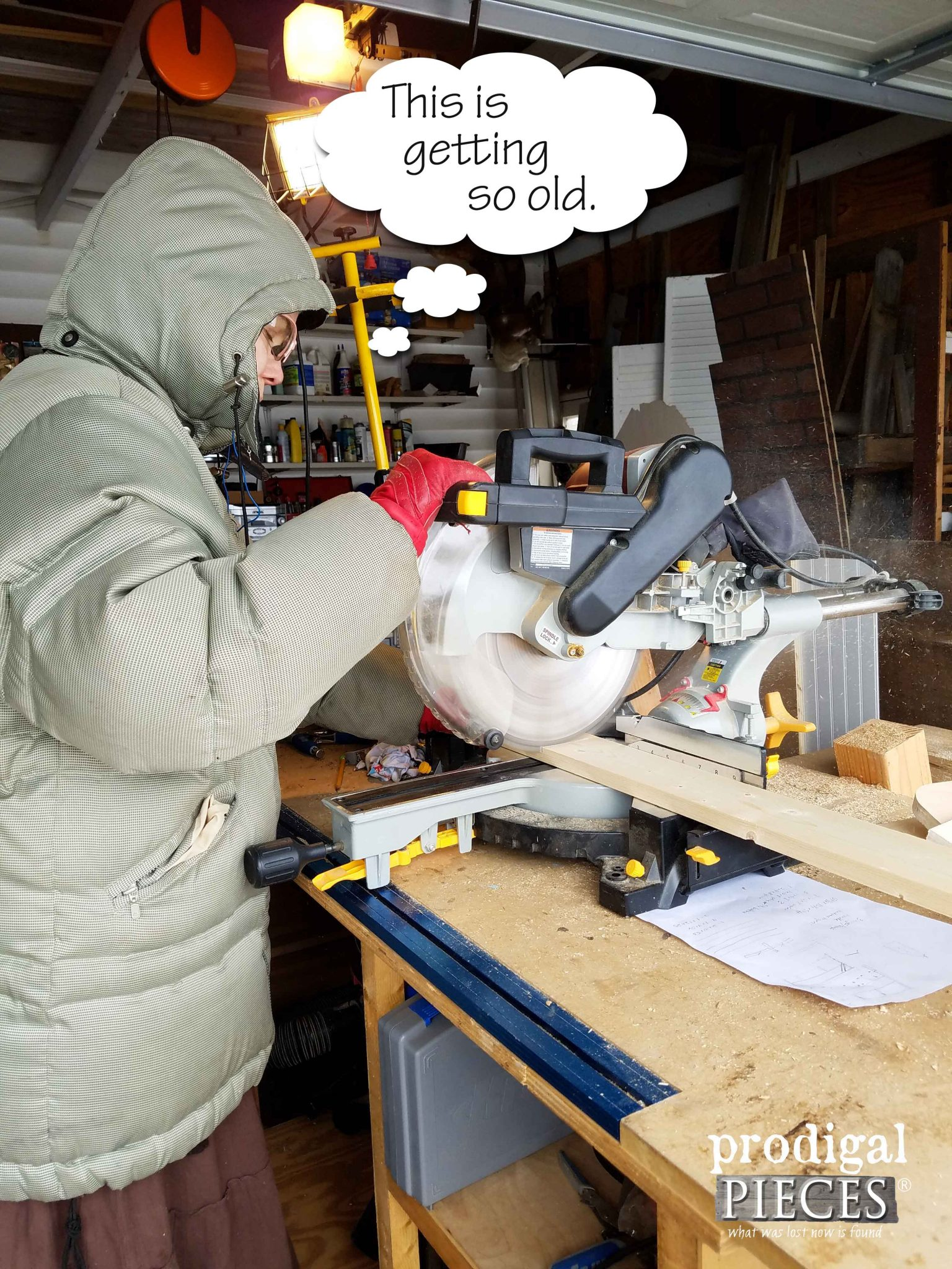 Using Miter Saw Out in Freezing Cold | Prodigal Pieces | prodigalpieces.com