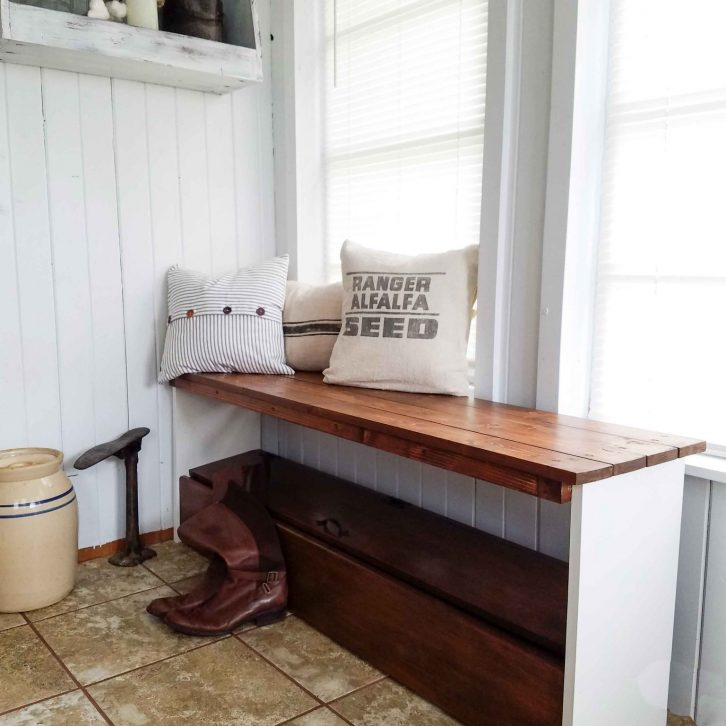 Rustic Handmade Farmhouse Bench Available at Prodigal Pieces | prodigalpieces.com